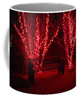 Red Lights And Bench Coffee Mug