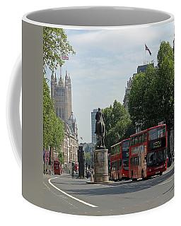 Red London Bus In Whitehall Coffee Mug