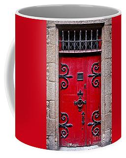 Red Medieval Door Coffee Mug