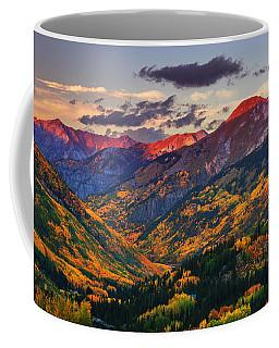 Red Mountain Pass Sunset Coffee Mug
