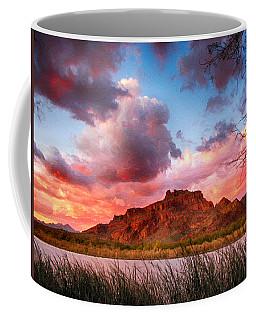 Red Mountain Sunset Coffee Mug by John Haldane