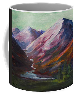 Red Mountain Surreal Mountain Lanscape Coffee Mug