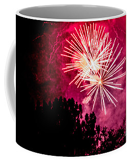 Coffee Mug featuring the photograph Red Night by Suzanne Luft