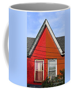 Coffee Mug featuring the photograph Red-orange House by Nina Silver