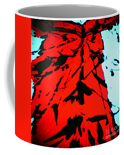 Red Owl Watching Over Me Coffee Mug by Jacqueline McReynolds