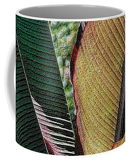 Red Palm Leaves Coffee Mug