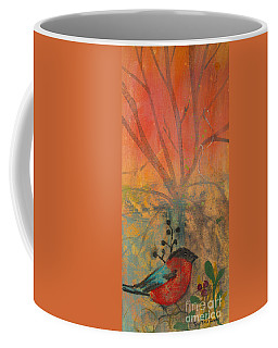 Red Peace Bird Coffee Mug by Robin Maria Pedrero