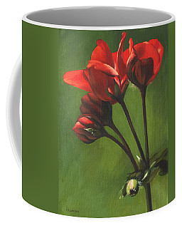 Red Pelargonium Coffee Mug