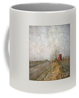 Red Phone Box Coffee Mug by Liz  Alderdice
