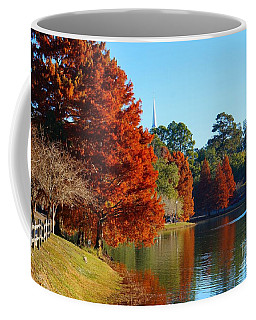 Red Pine On Lake Ella Coffee Mug
