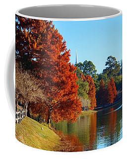 Red Pine On Lake Ella Coffee Mug by Gail Kent