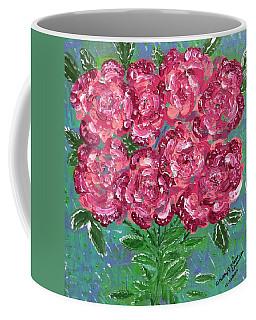 Red Pink Roses Coffee Mug