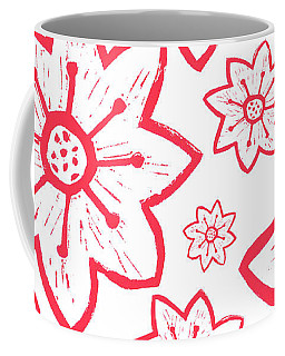 Red Poinsettia Pattern Coffee Mug
