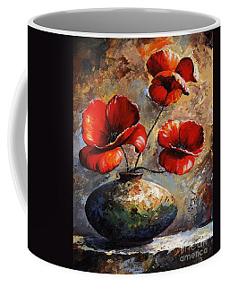 Red Poppies 02 Coffee Mug