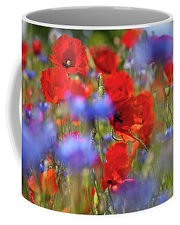 Red Poppies In The Maedow Coffee Mug by Heiko Koehrer-Wagner