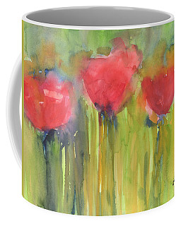Red Poppy Elegance Coffee Mug