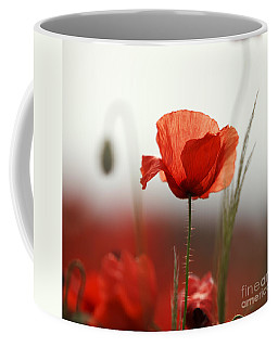 Red Poppy Flowers Coffee Mug