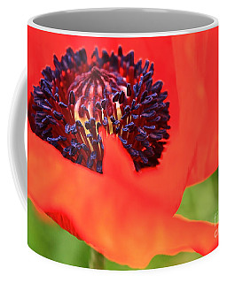 Red Poppy Coffee Mug by Linda Bianic
