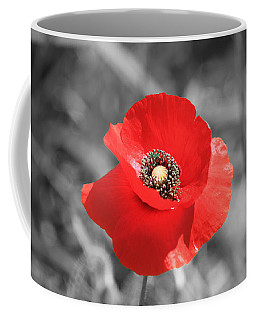 Red Poppy Coffee Mug