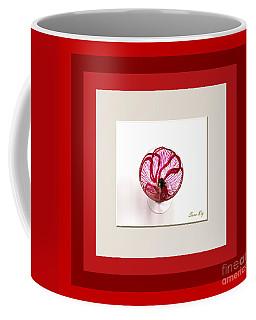 Coffee Mug featuring the glass art Red Poppy. Soul Inspirations by Oksana Semenchenko