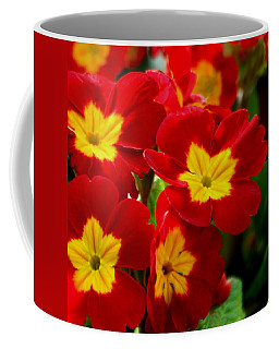 Red Primroses Coffee Mug