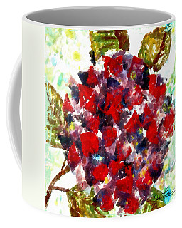 Coffee Mug featuring the painting Red Purple Flower by Joan Reese
