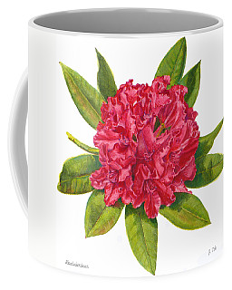 Red Rhododendron  Coffee Mug