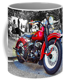 Red Rider On Black Coffee Mug