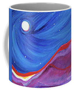 Coffee Mug featuring the painting Red Ridge By Jrr by First Star Art