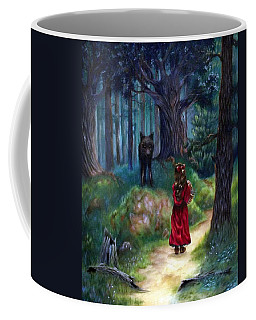 Coffee Mug featuring the painting Red Riding Hood by Heather Calderon