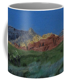 Red Rock Canyon Panorama Coffee Mug