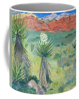 Red Rock Canyon With Yucca Coffee Mug