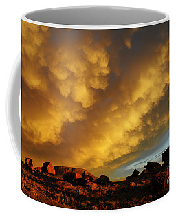 Coffee Mug featuring the photograph Red Rock Coulee Sunset by Vivian Christopher