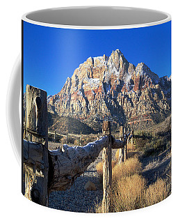 Red Rock Snow Coffee Mug