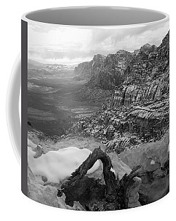 Coffee Mug featuring the photograph Red Rock Winter by Alan Socolik