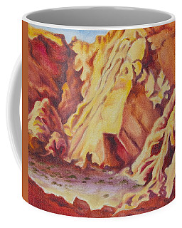 Coffee Mug featuring the painting Red Rocks by Michele Myers