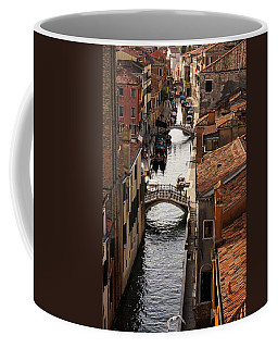 Red Roofs Of Venice Coffee Mug by Georgia Mizuleva