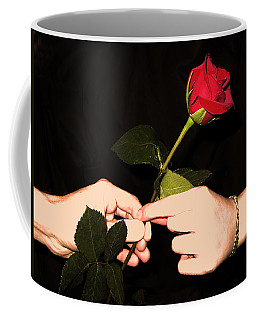 Red Rose By Jan Marvin Studios Coffee Mug