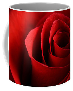 Red Rose Macro Coffee Mug
