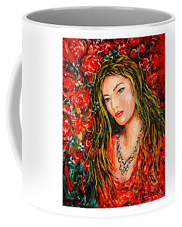 Red Roses Coffee Mug by Natalie Holland