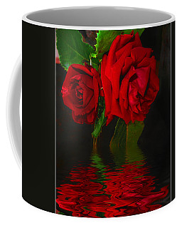 Red Roses Reflected Coffee Mug