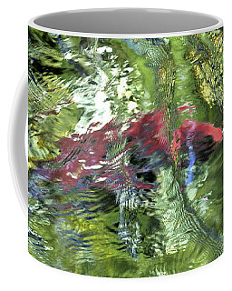Coffee Mug featuring the photograph Red Salmon In Steep Creek by Cathy Mahnke