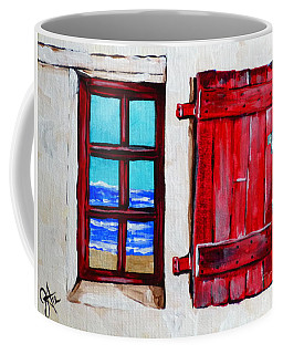 Red Shutter Ocean Coffee Mug