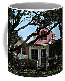 Coffee Mug featuring the photograph Red Shutters Cottage by Laura Ragland