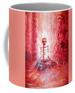 Red Skeleton Meditation Coffee Mug