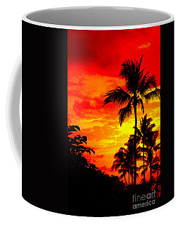 Red Sky At Night Coffee Mug by David Lawson