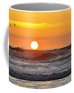 Red Sky At Night Sailors  Delight Coffee Mug by AJ  Schibig