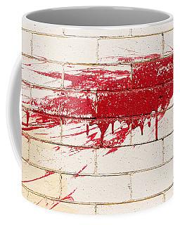 Red Splash On Brick Wall Coffee Mug