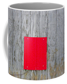 Red Square On A Wall Coffee Mug
