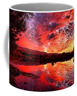 Red Sunset Coffee Mug by Lynn Hopwood